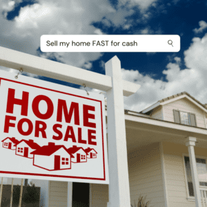 Sell my house FAST for cash sign