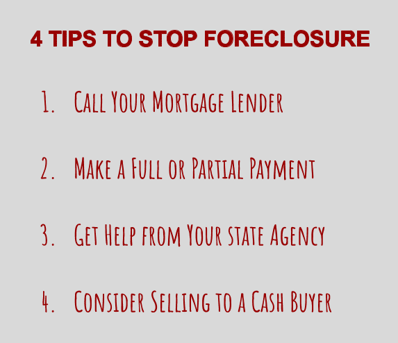 4 Tips To Stop Foreclosure