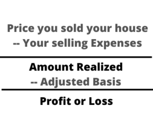 Figure For Calculating Your Losses Or Gains In A Real-Estate Sale, One Of Our Tax Tips For Selling Your House