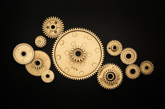 Gears Representing A Process
