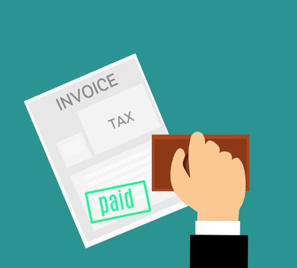 Animated Image Shows A Stamped Invoice To Acknowledge Tax Payment
