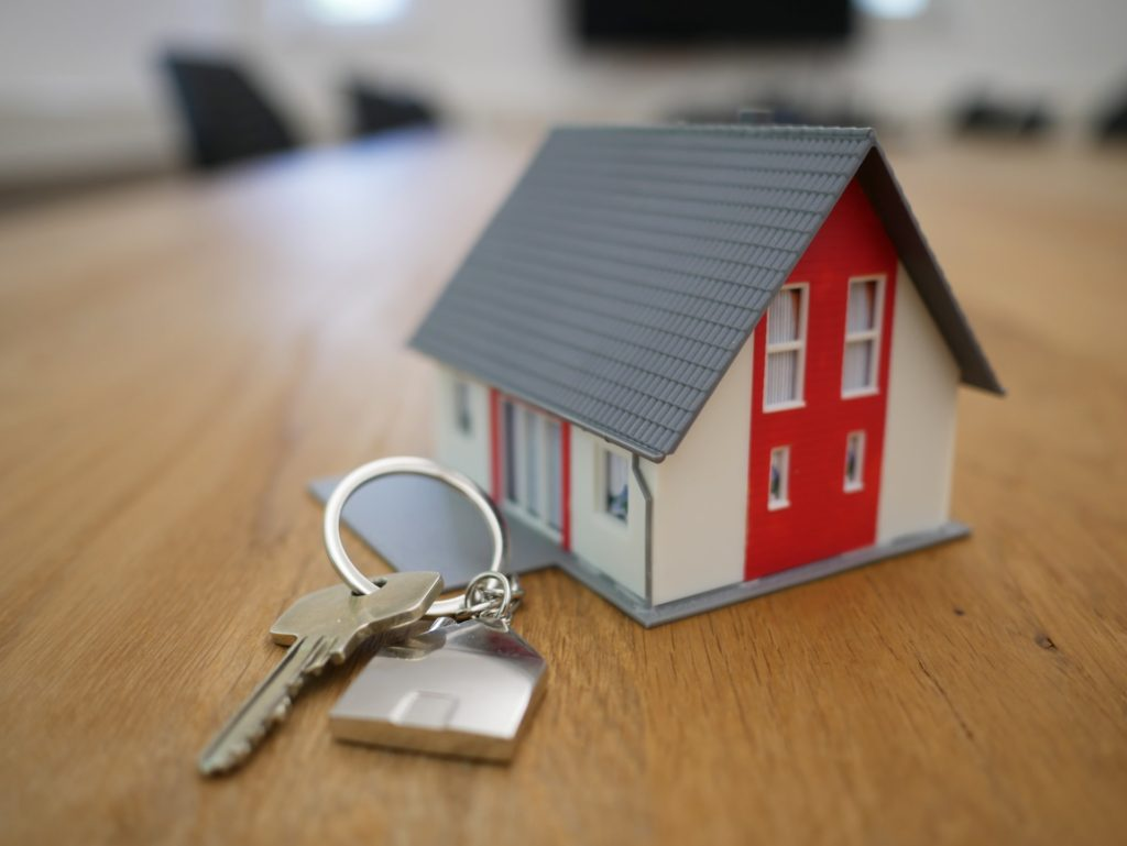 A Newly Bought Home With The Keys Recently Bought At An Auction For A Foreclosed Property